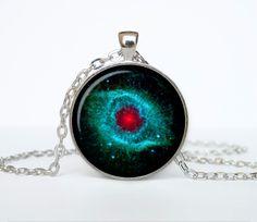 Nebula Pendant Helix Nebula Necklace Nebula by TheJewelryIsland