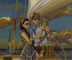 "MOVING PICTURES by Peregrine Heathcote/ oil on canvas  inspired by the following poem.....  ""We wanderers, ever seeking the lonelier way, begin no day where we have ended another day; and no sunrise finds us where sunset left us. Even while the earth sleeps we travel. We are the seeds of the tenacious plant, and it is in our ripeness and our fullness of heart that we are given to the wind and are scattered."" ― Khalil Gibran, The Prophet"