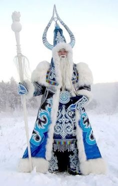 """""""This Yakut winter spirit is akin to the Russian Grandfather Frost. Bull of Frost resides in the coldest part of Siberia and is a represent..."""