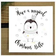 58457df6ac141 Personalised Penelope Penguin Christmas Card Cute Christmas Card Unique Christmas  Cards