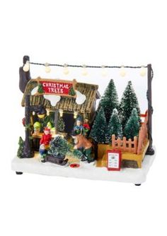 Kurt S. Adler Battery-Operated Led Christmas Tree Shop Table Piece -  - One Size