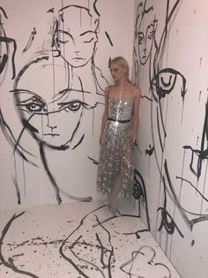 Sasha Pivovarova documented her whole getting ready process just for us. Click through below to see how she prepped for Dior's fashion week party.