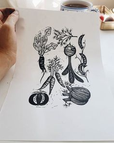 A very very messy first proof.  Sometimes I think it would be rather wonderful to pull a print and it be spot on first time.  Especially when time to get inky pull prints and clean up monochrome vegetables feels a little short. But then perhaps the end result would feel a little less well deserved.
