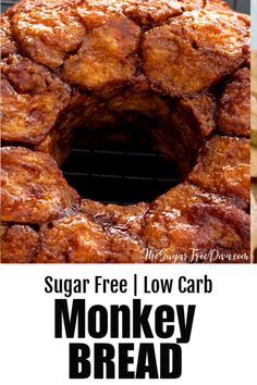 No carb diets 62768988542569348 - Sugar Free Low Carb Monkey Bread Source by thesugarfreediva Healthy Low Carb Recipes, Healthy Snacks For Diabetics, Low Carb Dinner Recipes, Diet Recipes, Bread Recipes, Keto Snacks, Diabetes Recipes, Diabetic Desserts, Jelly Recipes