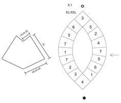 """Poncho DROPS all'uncinetto con """"granny squares"""" (quadrati della nonna) e gruppi di maglie alte doppie, in """"Paris"""". ~ DROPS Design"""