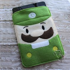 Green Plummer Brother Device Case ITH Embroidery Design
