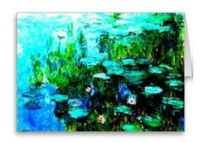 Claude Monet All Occasion Greeting Card available at: http://www.zazzle.com/all_occasion_monet_nympheas_cards-137211761738118842