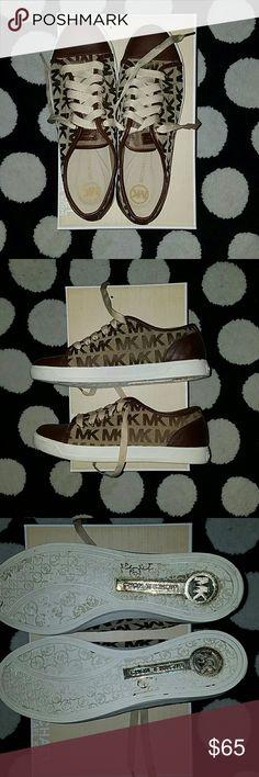 Michael Kors Sneakers Monogram Jacquard City Sneakers -worn once Michael Kors Shoes Sneakers