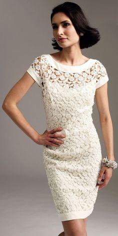 Vestido de Noiva em Crochê                                                                                                                                                                                 Mais