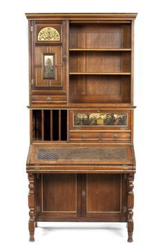 Henry W. Batley (1846-1932), attributed, for Gillow & Co. - An Interesting Aesthetic Movement Secretaire Bookcase, 1881.