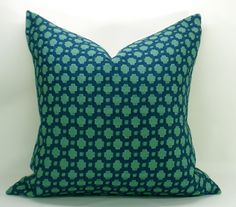 Betwixt pillow cover in Peacock/Seaglass - 20 x 20. $65.00, via Etsy.