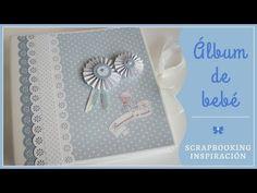 """Recuerdos en un álbum: Álbum de bebé """"Bienvenido a casa"""" Album Scrapbook, Handmade Scrapbook, Baby Shower, Big Shot, Packing, Scrapbooking, Youtube, Color, Welcome Baby"""