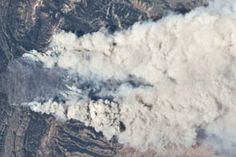 Fontenelle Fire from the International Space Station : Natural Hazards : NASA Earth Observatory