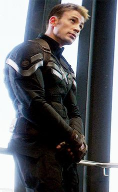 "Steve Rogers, ""Captain America: The Winter Soldier"">>He's so adorable - He kind of reminds me of a puppy in this gif..."
