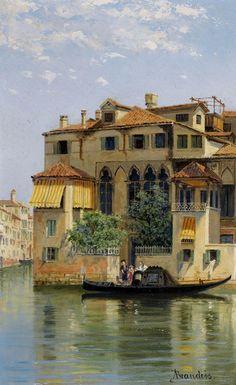 "Antonietta Brandeis (1849-1920) ""Palazzo Falier, Venice""."