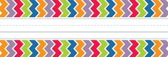 """Chevron Name Plates Personalize doors, desks, seats at the table, cubbies, or folders with these 36 colorful 9 ½"""" x 3 ¼"""" name plates. Chevron Classroom Decor, Classroom Design, Chevron Name Plates, Art Bin, Creative Teaching Press, Circus Theme, Classroom Inspiration, New Product, Layout Design"""