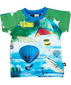 Molo great flying machine printed baby t-shirt. molo.en.emilea.be