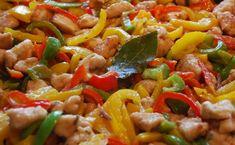 Spezzatino di pollo con peperoni (bimby)