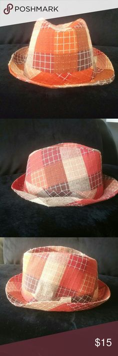 NWOT Patch fedora This beauty is one of a kind, can be worn worth just about anything, dress it up or down, a must have for any wardrobe. Accessories Hats