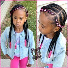 Little Girl Braid Styles, Little Girl Braid Hairstyles, Toddler Braided Hairstyles, Toddler Braids, Kids Curly Hairstyles, Kid Braid Styles, Little Girl Braids, Baby Girl Hairstyles, Natural Hairstyles For Kids