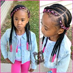 Black Kids Braids Hairstyles, Toddler Braided Hairstyles, Toddler Braids, Cute Little Girl Hairstyles, Little Girl Braids, Baby Girl Hairstyles, Braids For Kids, Girls Braids, Young Girls Hairstyles