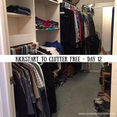 Today, I cleared out 25 things from my closet with Kathi Lipp's Kickstart to Clutter Free eCourse.