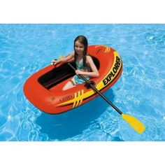 Intex Explorer 100, 1-Person Inflatable Boat  Perhaps a tow behind option to bring the dogs along? :)