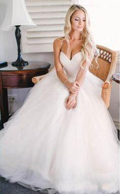 sweetheart simple elegant tulle long wedding dress, WD280