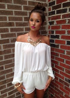 White romper #swoonboutique
