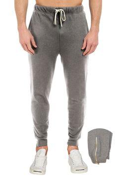 5f725b24e9511 French Terry Fleece Pants with leg zipper Sweatpants Mens– Pro 5 Apparel  Fleece Pants,