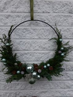 Christmas Lights, Christmas Time, Christmas Wreaths, Merry Christmas, Decor Crafts, Diy And Crafts, Wine Barrel Rings, Holiday Crafts, Holiday Decor