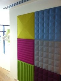 BuzziSkin 3D Tile - Acoustical Wall Panel  BY BUZZISPACE - so kids can scream their little heads off in their playroom and not annoy the snot out of the rest of the house.
