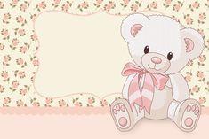 Ursinha Floral Rosa – Kit Completo com molduras para convites, rótulos para guloseimas, lembrancinhas e imagens! | Fazendo a Nossa Festa