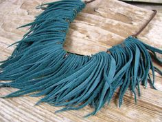 Leather Fringe Necklace  Tribal Necklace  Leather by lillianschmoo, $40.00