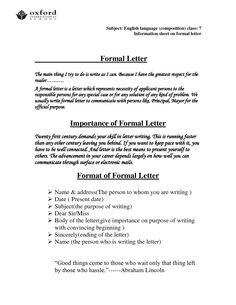 Official Letter Format TemplateOfficial Letter Business Letter Sample