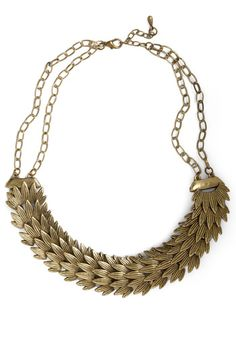 Golden Plumage Necklace-it reminds me of the jewelery made by Gretchen in project runway season 8
