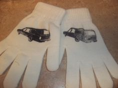Hearse set of gloves. $6.00, via Etsy.