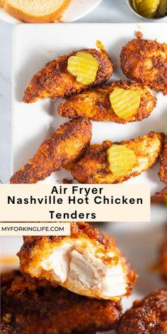 Air Fryer Chicken Tenders, Fried Chicken Tenders, Baked Chicken, Boneless Chicken, Oven Chicken, Chicken Bites, Chicken Thigh Recipes Oven, Easy Chicken Recipes, Healthy Chicken