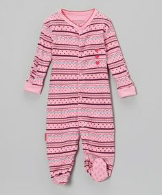 Giggly little girls are sure to win hearts in this playfully printed footie. With simple snaps down the front and legs, it's a cinch to slip into and out of.