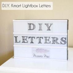 D.I.Y Kmart Lightbox Letters | www.missesmac.co.nz