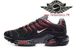 online store befb5 bbd2b Chaussures Homme Nike Air Max Plus Tn 2017 ID Officiel Nike Prix Pas Cher  Noir Rouge