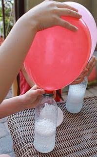 No helium needed to fill balloons for parties.....just vinegar and baking soda! I need to remember this! Pls like