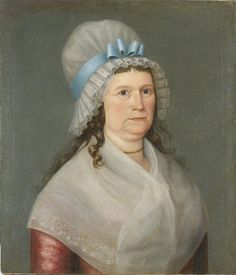 Portrait of Sarah Hall Chase (1742-1806), attributed to Joseph Steward (1753-1822), c. 1793. New Hampshire Historical Society 1976.063 b