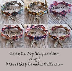 Carry On My Wayward Son Angel Friendship Bracelet Collection