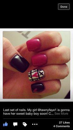 My valentine nails part 2