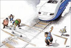 Pétanque and bullet train