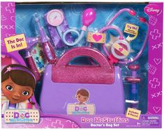 Doc McStuffins Disney Doctors Bag Set - Pretend Play - Pretend Play & Dress Up - Toys - The Warehouse Doc Mcstuffins Bag, Doc Mcstuffins Birthday, Doc Mcstuffins Costume, Toys For Girls, Kids Toys, Children's Toys, Doll Toys, Bubble Guppies Birthday, Baby Alive