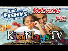 Lil Fishys Water Pets Fun in The Swimming Pool and review by KimPlaysTV