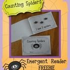 6 page spider emergent reader book (free!!)