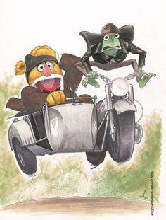 'Indiana Jones and the Last Crusade' & Muppets mashup art by Amy Mebberson
